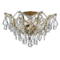 Crystorama Lighting Filmore Antique Gold Semi-Flushmount Light
