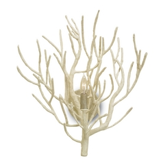 Currey and Company Lighting White Coral Sconce