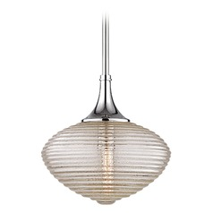 Hudson Valley Lighting Knox Polished Nickel Pendant Light with Oblong Shade