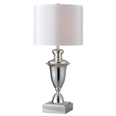 Kenroy Home Mcclelland Polished Nickel Table Lamp with Drum Shade