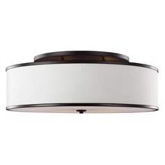 Feiss Lighting Lennon Oil Rubbed Bronze Semi-Flushmount Light