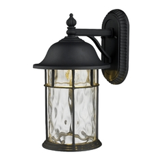 LED Outdoor Wall Light with Clear Glass in Matte Black Finish