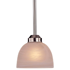 Energy Star Mini-Pendant - Etched Marble Glass