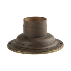 Progress Pier Mount in Weathered Bronze Finish