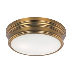 Maxim Lighting Fairmont Natural Aged Brass Flushmount Light