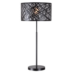 Kenroy Home Bramble Black Table Lamp with Drum Shade