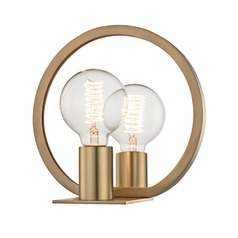 Industrial Edison Bulb Sconce Brass 8.75-Inch by Hudson Valley Lighting