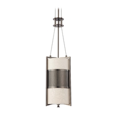 Modern Mini-Pendant Light with Beige / Cream Shade