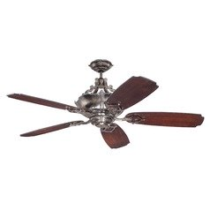 Craftmade Lighting Wellington Xl Tarnished Silver Ceiling Fan with Light