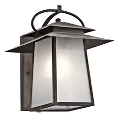 Kichler Lighting Kichler Lighting Woodland Lake Weathered Zinc Outdoor Wall Light 49531WZC