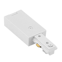 WAC Lighting White H Track Live End Connector