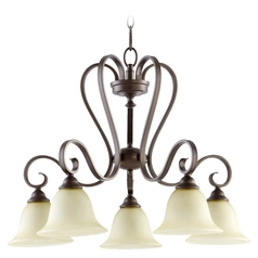Quorum Lighting Celesta Oiled Bronze Chandelier