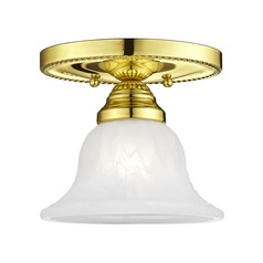 Livex Lighting Edgemont Polished Brass Semi-Flushmount Light