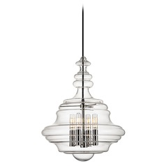 Washington 4 Light Pendant Light - Polished Nickel