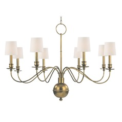 Brass chandeliers transitional lighting chandeliers hudson valley lighting cohasset aged brass chandelier aloadofball Images