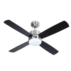 44-Inch Brushed Nickel Ceiling Fan with LED Light 3000K 1200LM
