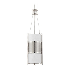 Modern Mini-Pendant Light with Grey Shade