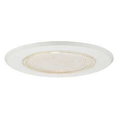 White Fresnel Shower Trim for 5-Inch Recessed Housings