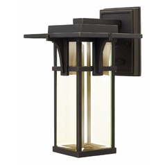 Hinkley Manhattan Oil Rubbed Bronze LED Outdoor Wall Light