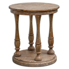 Uttermost Bardeau Weathered Accent Table