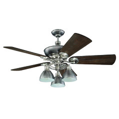 Craftmade Lighting Timarron Brushed Polished Nickel Ceiling Fan with Light