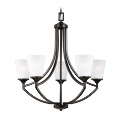 Sea Gull Lighting Hanford 5-Light Chandelier in Burnt Sienna