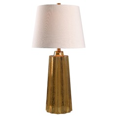 Kenroy Home Morningstar Table Lamp Gold Mercury Table Lamp with Empire Shade