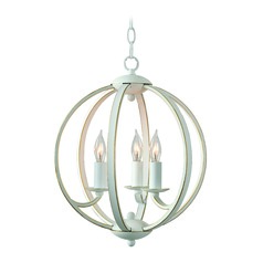 Kenroy Home Opal Weathered White with Gold Mini-Chandelier