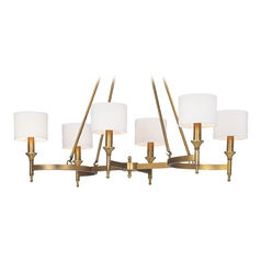 Mid-Century Modern Chandelier Brass Fairmont by Maxim Lighting