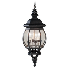 Livex Lighting Frontenac Black Outdoor Hanging Light