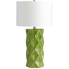 Cyan Design Hoshi Green Apple Table Lamp with Drum Shade