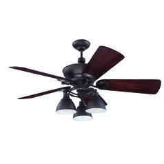 Craftmade Lighting Timarron Aged Bronze Brushed Ceiling Fan with Light