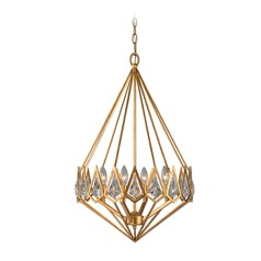Uttermost Eclatant 4 Light Gold Diamond Pendant