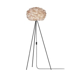 UMAGE Black Floor Lamp with Bowl / Dome Shade