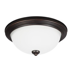 Sea Gull Lighting Ceiling Flush Mount Burnt Sienna LED Flushmount Light
