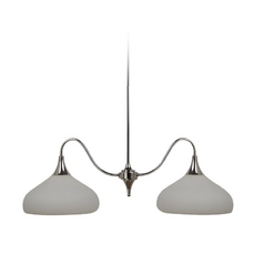 Sea Gull Lighting Modern Island Light with White Glass in Polished Nickel Finish 66971-841