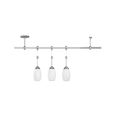 Sea Gull Lighting Pendant Light with White Glass in Antique Brushed Nickel / Opal Cased Etched Finish 94516-965