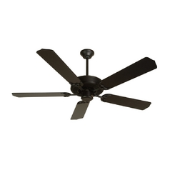 52-Inch Five Blade Ceiling Fan with Walnut Blades