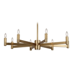 Robert Abbey Delany 8-Light Chandelier in Antique Brass