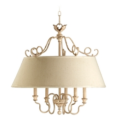 Quorum Lighting Salento Persian White Pendant Light with Empire Shade
