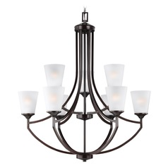 Sea Gull Lighting Hanford 2-Tier 9-Light Chandelier in Burnt Sienna