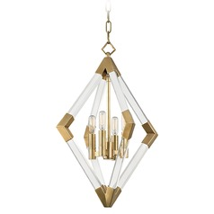 Hudson Valley Lighting Lyons Aged Brass Pendant Light