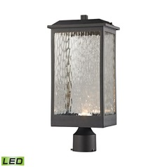 Elk Lighting Newcastle Textured Matte Black LED Post Light