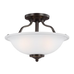 Sea Gull Lighting Emmons Heirloom Bronze LED Semi-Flushmount Light