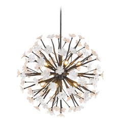 Posy 10 Light Pendant in Dark Natural Iron