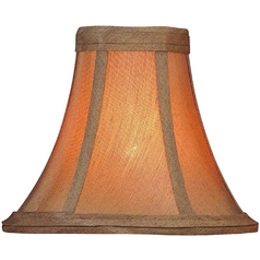 Soft Glow Gold Bell Lamp Shade with Clip-On Assembly