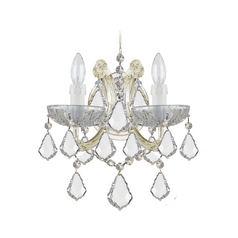 Crystal Sconce Wall Light in Gold Finish
