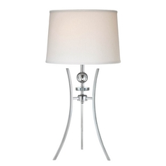 Lite Source Lighting Triocof Chrome Table Lamp with Drum Shade