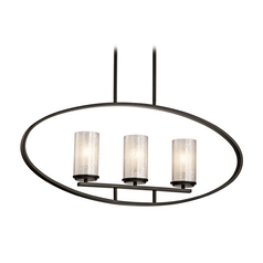 Kichler Lighting Berra Olde Bronze Island Light with Cylindrical Shade