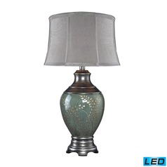 Dimond Lighting Pinery Green LED Table Lamp with Empire Shade